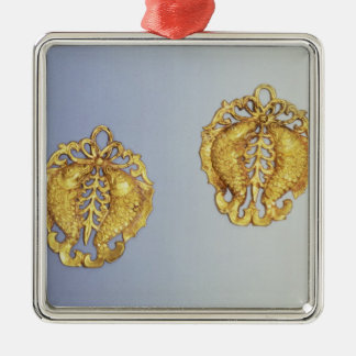 Chinese pendants, 17 carat gold plated christmas ornament