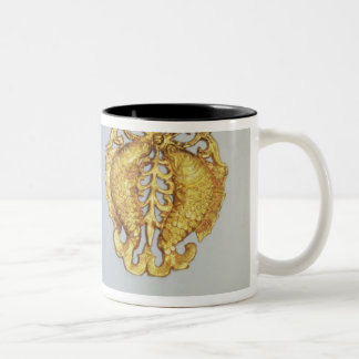 Chinese pendants, 17 carat gold plated Two-Tone coffee mug