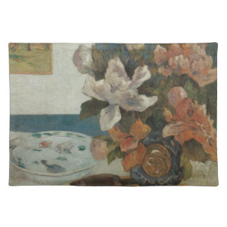 Chinese Peonies and Mandolin by Paul Gauguin Placemat