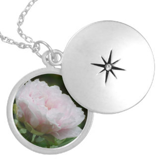 Chinese Peony Locket Necklace