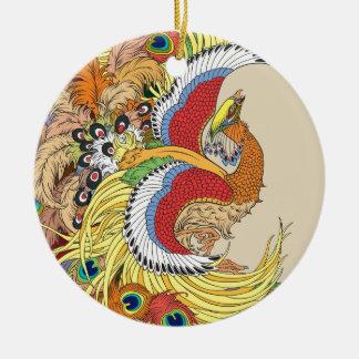 Chinese phoenix christmas ornament