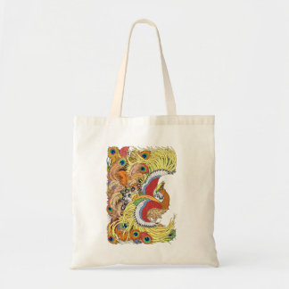 Chinese phoenix feng huang tote bag