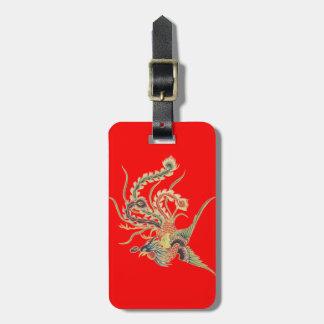 Chinese Phoenix - Fenghuang  Mythological Birds Luggage Tag