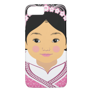Chinese Pink HanFu Girl Matryoshka Case