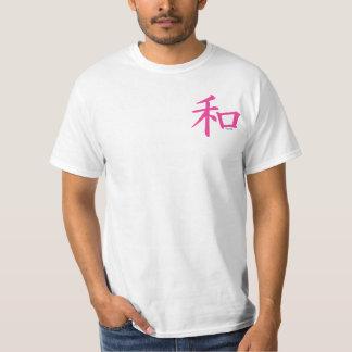 Chinese Pink Peace Symbol T-shirts