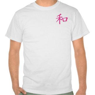 Chinese Pink Peace Symbol T Shirts