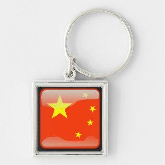 Chinese polished flag key ring