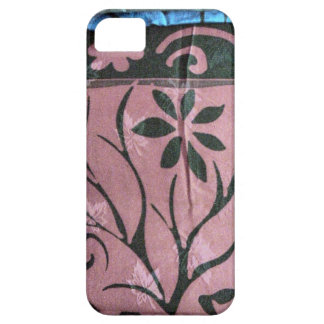 Chinese printed silk fabric iPhone 5 cover