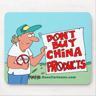 Chinese Product Boycott Cartoon Mouse Pad