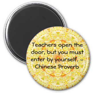 Chinese Proverb 6 Cm Round Magnet