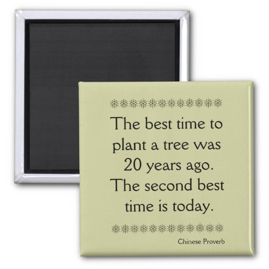 Chinese Proverb on Time and second chances Magnet