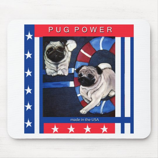 Chinese Pug Agility Design Mouse Mat