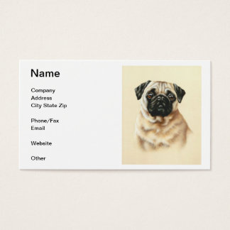 Chinese Pug Business Card