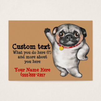 Chinese PUG business card template