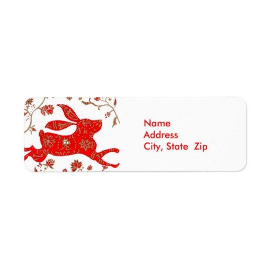 Chinese Rabbit Astrology Avery Label Return Address Label