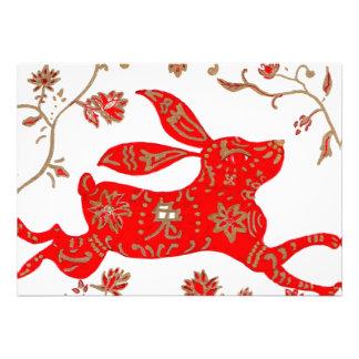 Chinese Rabbit Astrology Invitation