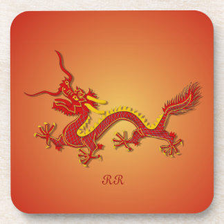 Chinese Red And Gold Dragon 6 Drinks Coasters