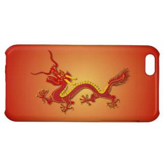 Chinese Red And Gold Dragon New Year iPhone 5 Case
