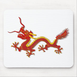 Chinese Red And Gold Year Of The Dragon Mousepad