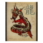 Chinese Red Dragon Personalised Print