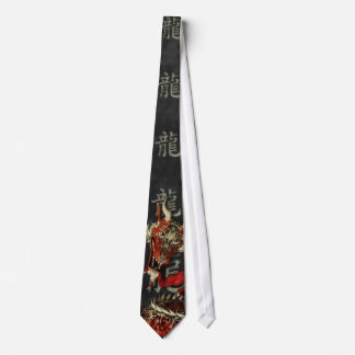 Chinese Red Dragon Tie