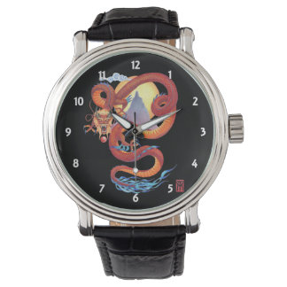 Chinese Red Dragon Wrist Watches