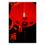 Chinese Red Lantern Poster