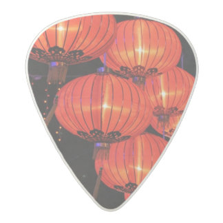 Chinese Red Lanterns Acetal Guitar Pick