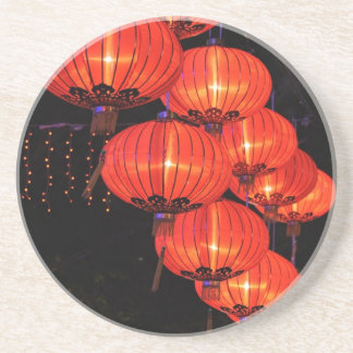 Chinese Red Lanterns Coaster