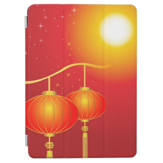 Chinese red paper lanterns with full moon iPad air cover