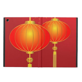 Chinese red paper lanterns with full moon iPad air case