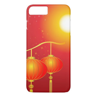 Chinese red paper lanterns with full moon iPhone 8 plus/7 plus case