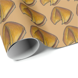 Chinese Restaurant Food Lucky Fortune Cookie Wrap Wrapping Paper