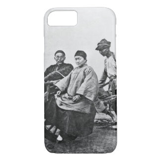 Chinese rickshaw, c.1870 (b/w photo) iPhone 8/7 case