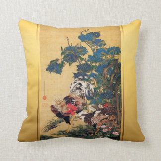 Chinese Rooster New Year 2017 Japanese Art Pillow1 Cushion