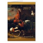 Chinese Rooster Year 2017 European Art card