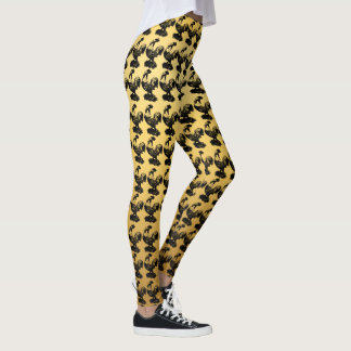 Chinese Rooster Year 2017 gradient yellow Leggings