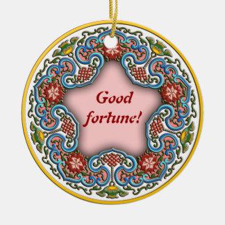 Chinese round pattern good fortune round ceramic decoration
