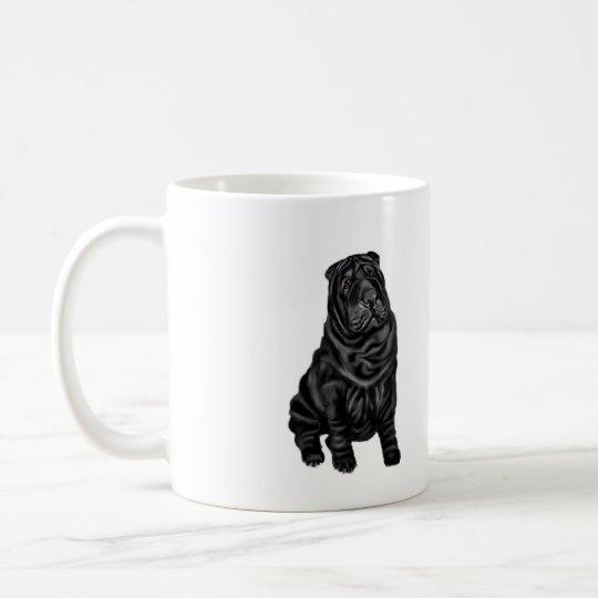 Chinese Shar Pei - black Coffee Mug