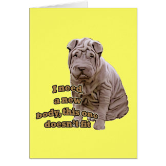 Chinese shar Pei Card