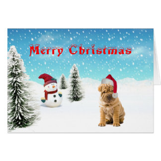 Chinese Shar-pei Christmas Card