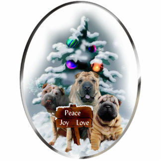Chinese Shar-Pei Christmas Gifts Ornament Photo Cut Out