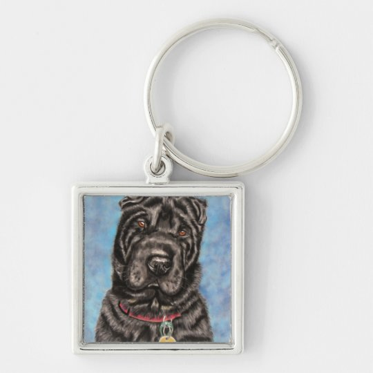 Chinese Shar-Pei Dog Art - Tia Key Ring