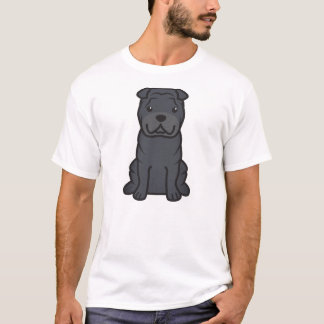 Chinese Shar-Pei Dog Cartoon T-Shirt