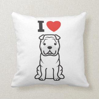 Chinese Shar-Pei Dog Cartoon Throw Cushions