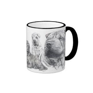Chinese  Shar Pei Ringer Coffee Mug