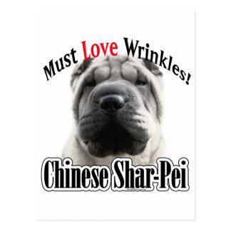 Chinese Shar-Pei Must Love Wrinkles Postcard