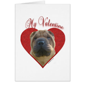 Chinese Shar Pei My Valentine Cards