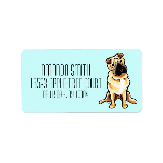 Chinese Shar Pei Off-Leash Art™ Custom Colour Label