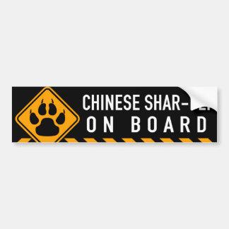 Chinese Shar-Pei On Board Bumper Sticker